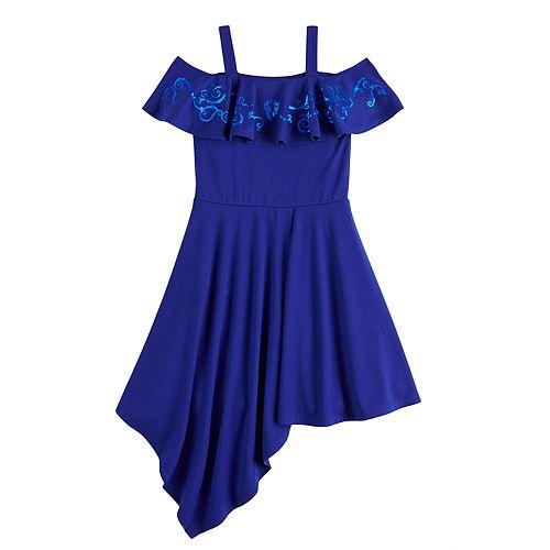 Disney's D-Signed Descendants Girls 7-16 Cold-Shoulder Asymmetrical Dress