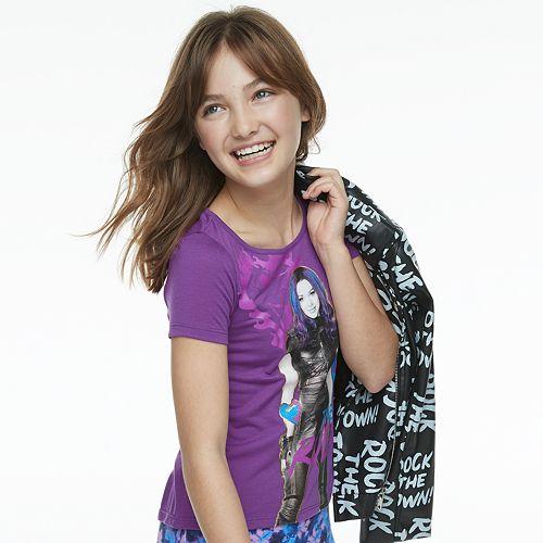 "Girls 7-16 Disney's D-Signed Descendants ""I Make the Rules"" Graphic Tee"