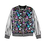 Disney D-Signed Descendants 3 Girls' Metallic Bomber Jacket