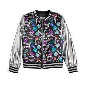 Disney D-Signed Descendants 3 Girls' Metallic Bomber Jacket