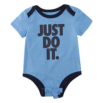 "Baby Boy Nike Futura Logo ""Just Do It."" Bodysuit"