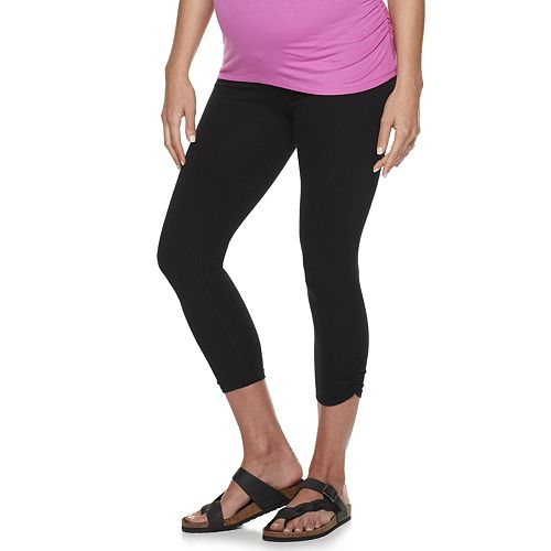 Maternity a:glow Ruched Capri Leggings