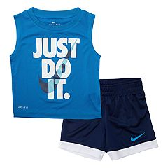 Baby Boy Nike 'Just Do It' Muscle Tee & Shorts Set