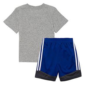 Baby Boy adidas Soccer Graphic Tee & Shorts Set