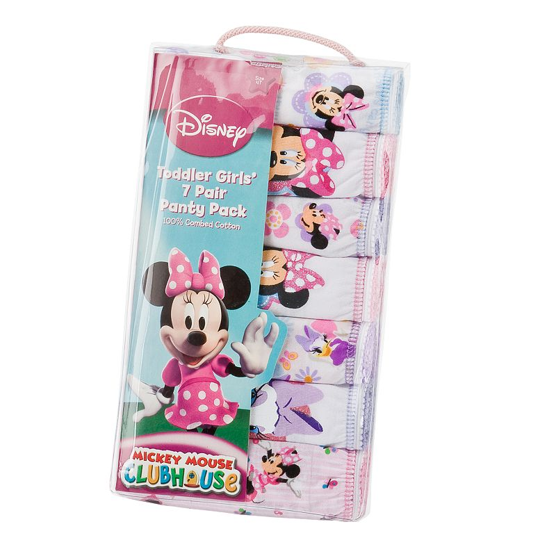 Disney's Mickey Mouse Clubhouse Minnie Mouse Toddler 7-pk. Briefs, Toddler Girl's, Size: 2T-3T, Pink