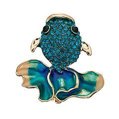 Women's Napier Gold Fish Pin