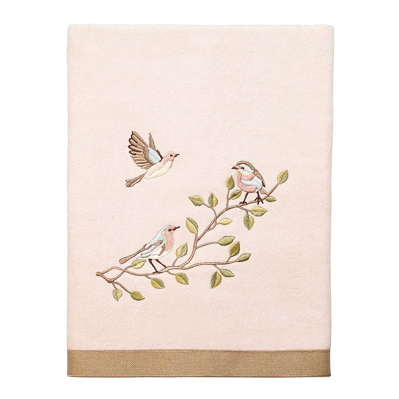 Avanti Bird Choir II Bath Towel, Pink