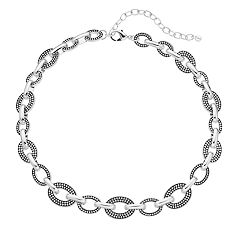 Napier 16-in. Silver Tone Collar