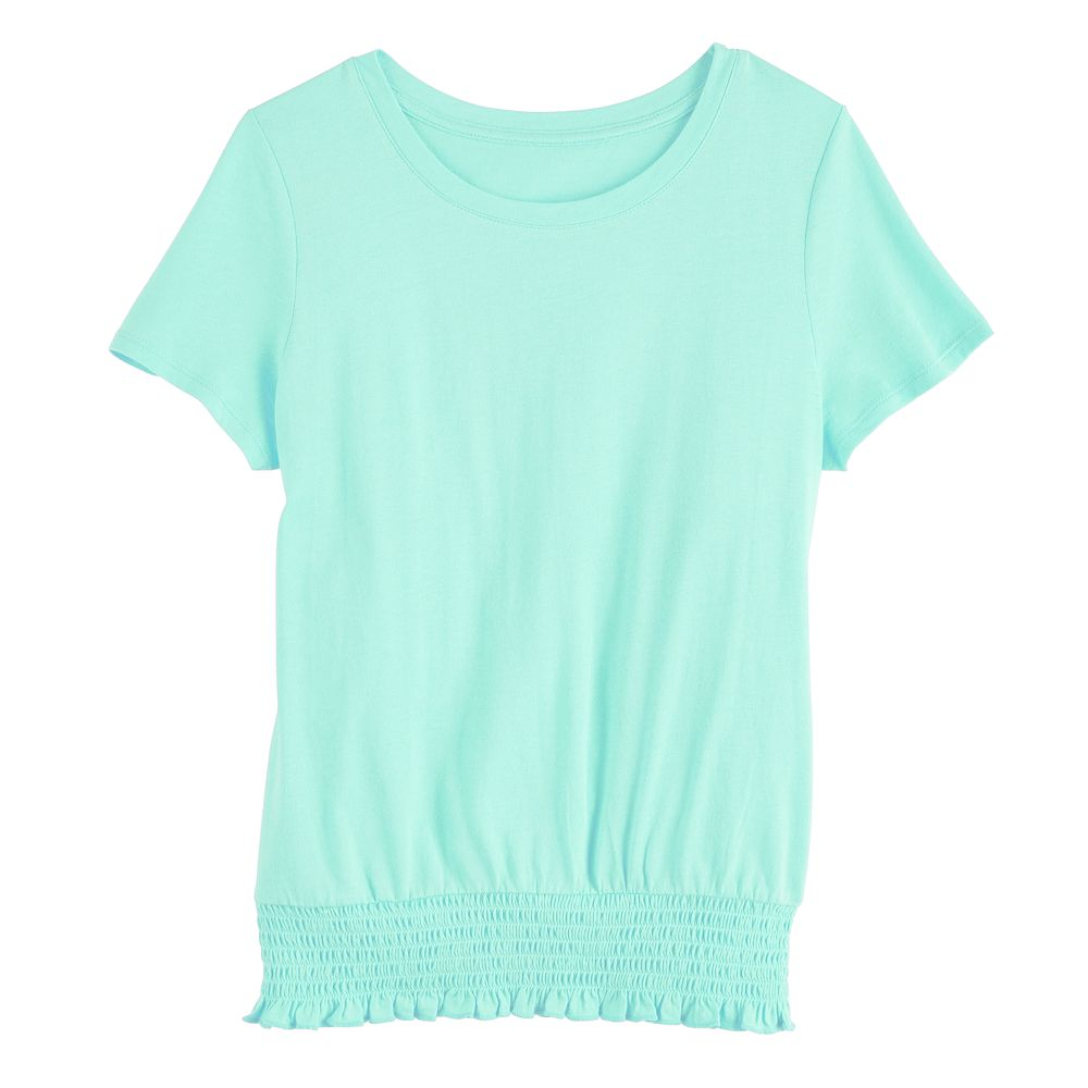 Girl's SO® Smocked Bubble Tee