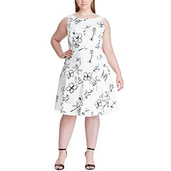 ffdd24e9a5c Plus Size Chaps Floral Fit   Flare Dress