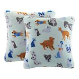 The Big One® Printed Plush Pillow 2-Pack