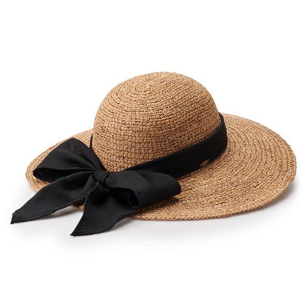 Women's Scala Bow Packable Floppy Hat