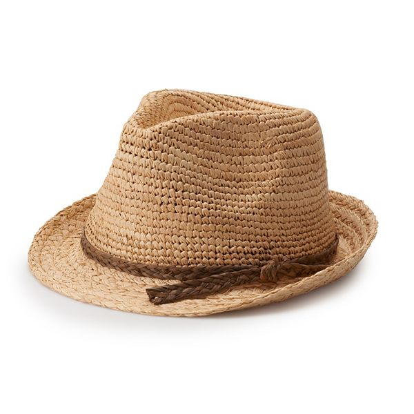 Women's Scala Crochet Fedora