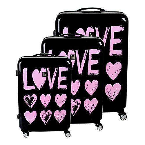 FUL 3-Piece Hardside Spinner Luggage Set