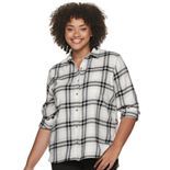 Juniors' Relaxed Fit SO® Flannel Shirt