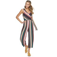 8a6414629 Juniors  Speechless Stripe Surplice Neckline Jumpsuit
