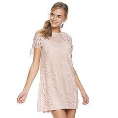 e61e17c9e6b Juniors  Speechless Illusion Lace Dress