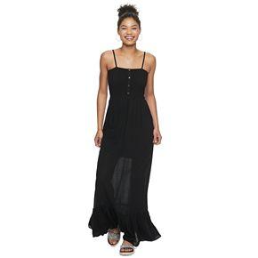 Junior's Lily Rose Smocked Maxi Dress
