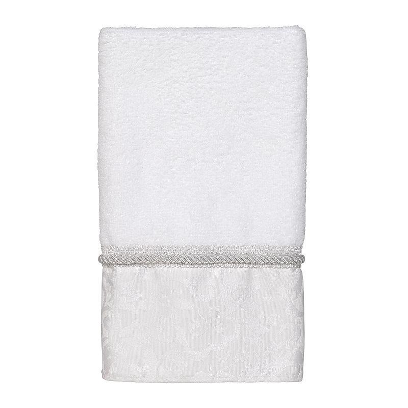 Avanti Manor Hill Fingertip Towel, White, FINGER TIP