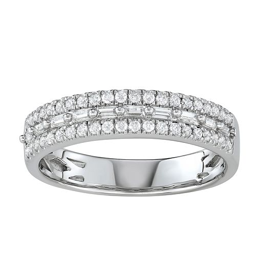 Simply Vera Vera Wang 14k White Gold 1/3 Carat T.W. Diamond Engagement Ring
