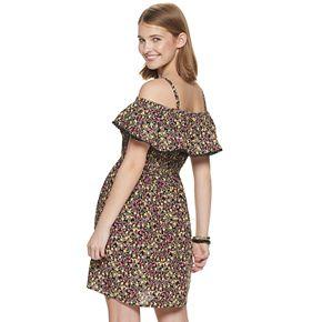 Juniors' Lily Rose Smocked Challis Short Dress