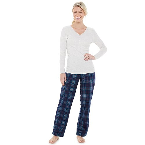 Women's Gloria Vanderbilt Microsuede 2-Piece Pajama Set