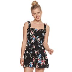Juniors' Lily Rose Tank Smocked Romper