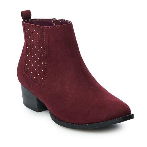 LC Lauren Conrad Mocha Women's Ankle Boots