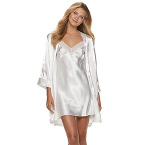 Women's Intimo Donetella Chemise and Wrap Robe Set