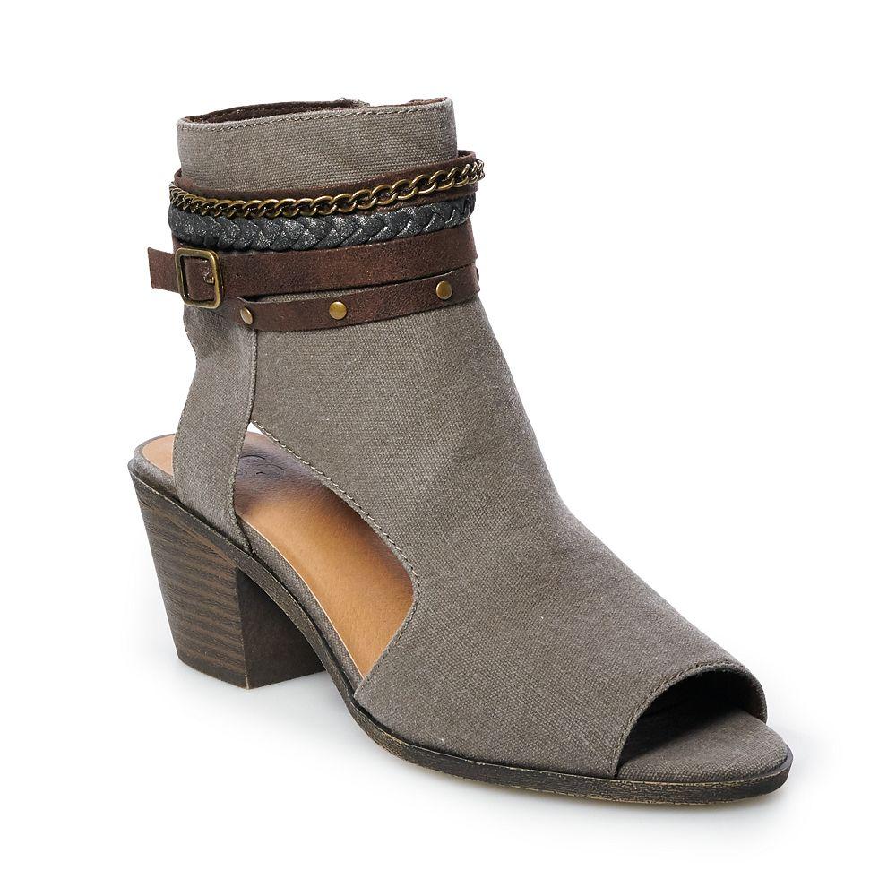 SO® Mustard Women's Peep Toe Boots