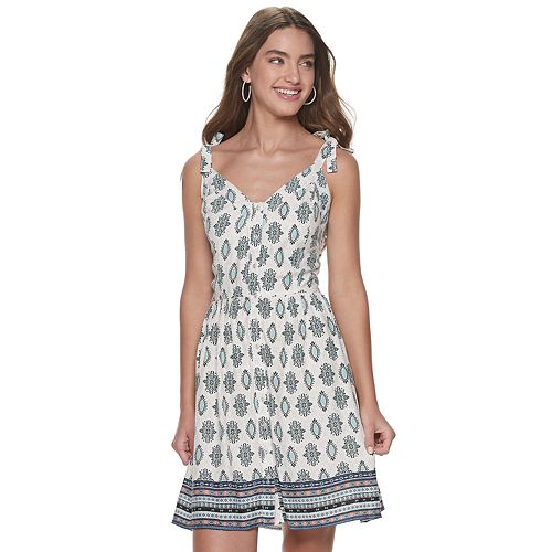 Juniors' American Rag Tied Tank Skater Dress