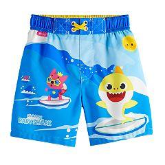 71ce8c468e Toddler Boy Baby Shark Swim Trunks. sale. $11.00