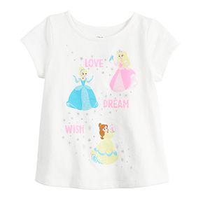 Disney Princess Belle, Aurora & Cinderella Baby Girl Graphic Tee by Jumping Beans®