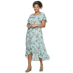 Plus Size Juniors' American Rag Lampshade High-Low Maxi Dress