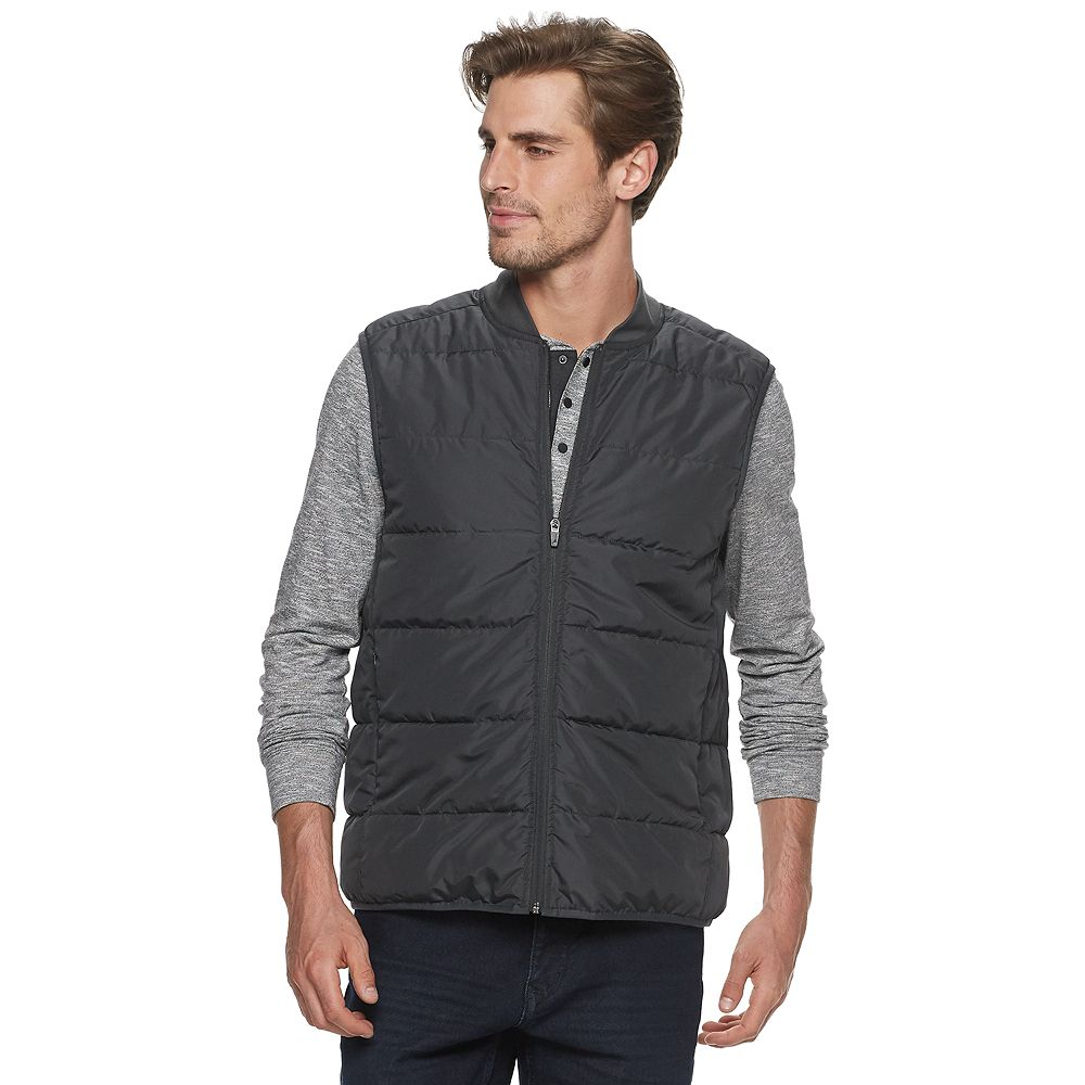 Men's Marc Anthony Bomber Collar Quilted Puffer Vest