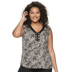 Juniors' Liberty Love Grommet tank