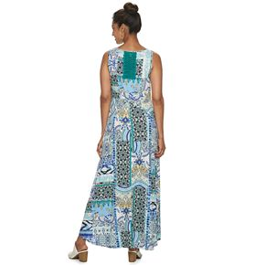 Women's World Unity Sleeveless Maxi Dress with Crochet Back