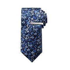d5adb0f658852 Men's Apt. 9® Floral Skinny Tie with Tie Bar
