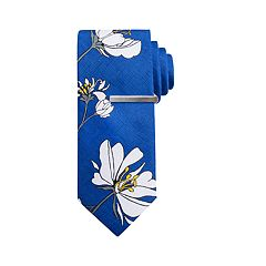 65a5b24cc5cc Men's Apt. 9® Floral Skinny Tie with Tie Bar