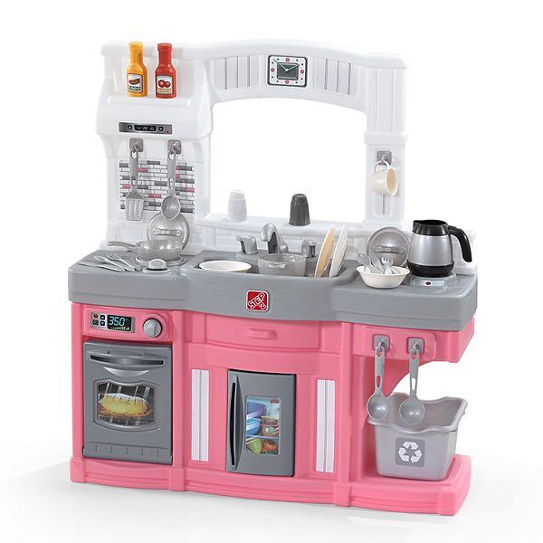 Step2 Modern Cook Play Kitchen Pink Set