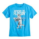 Boys 8-20 Flossing Kitty Tee