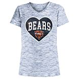 Girls 4-16 Chicago Bears Space-Dyed Tee