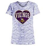 Girls 4-16 Minnesota Vikings Space-Dyed Tee