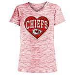 Girls 4-16 Kansas City Chiefs Space-Dyed Tee