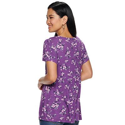 Women's World Unity Scoopneck Short Sleeve Smocked Top
