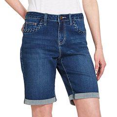 Women's IZOD® Braided Pocket Denim Short