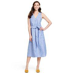 Women's IZOD Linen Fit & Flare Striped Dress