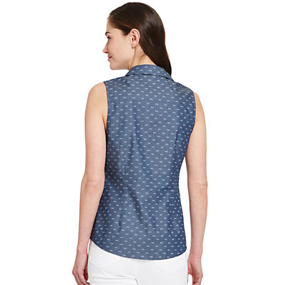Women's IZOD Sleeveless Button Front Woven Top