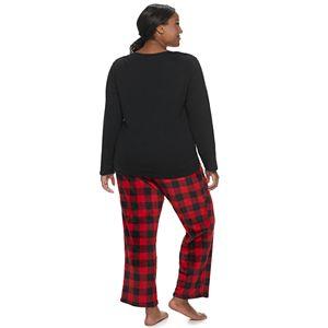 Plus Size Be Yourself Dreamy Fleece 2-Piece Pajama Set
