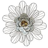 "Stratton Home Decor ""Galvanized Daisy"" Wall Decor"